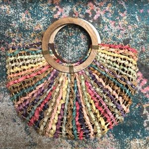 Handbags - Colorful vintage straw bag ✨